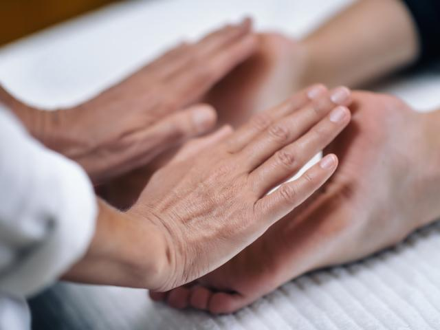 Image: Energy healing.